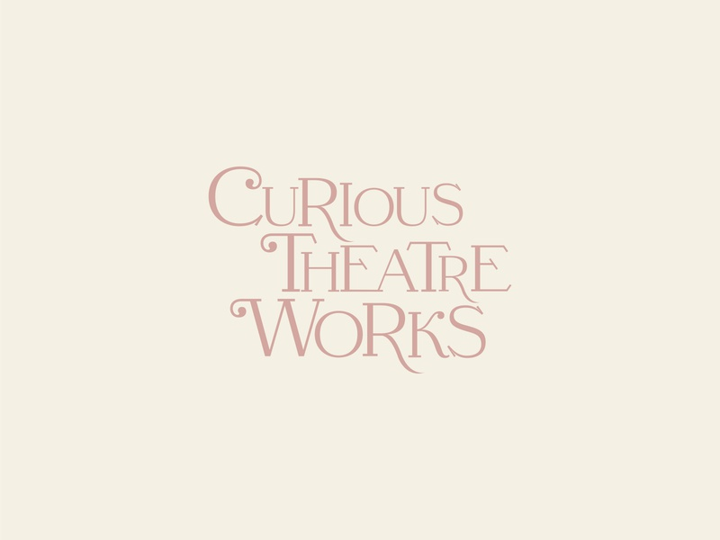 logo — curious theatre works logo design branding custom type logo
