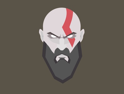 Kratos charecter games illustrator game design gaming god of war kratos
