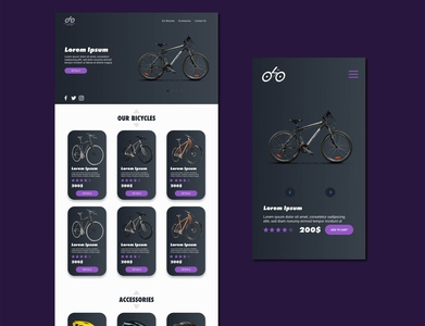 Roar bikes branding webdesign ui  ux