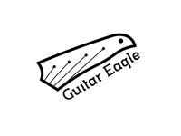 Guitar Eagle Logo branding illustration guitar music logo