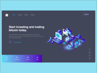 Landing page for a bitcoin trading website i designer  ux designer web designer landing page bitcoin