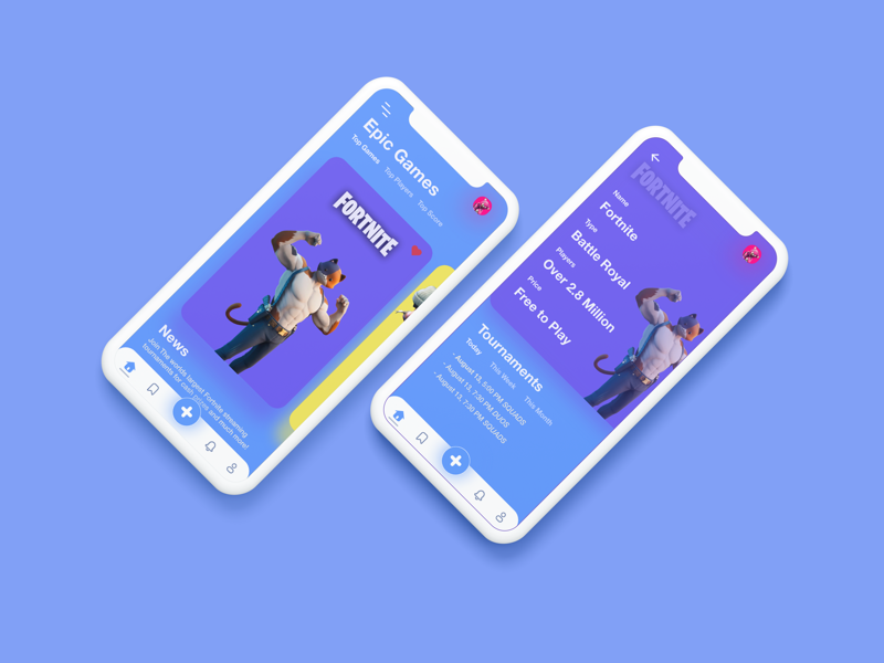 Fortnite Tournaments Concept mobile designer app mobile game art uxui ux ui interction design ui design xd adobe mockup interface design interaction design
