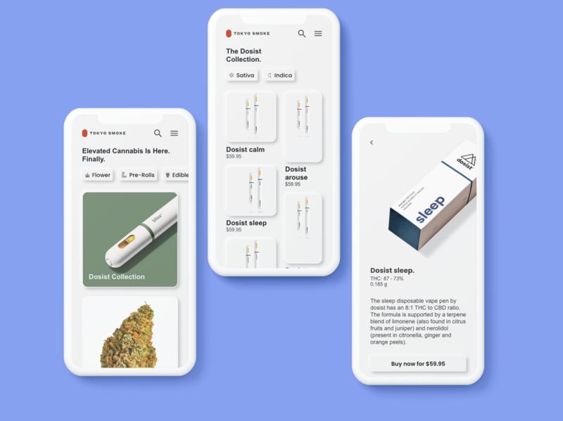 Tokyo Smoke Click & Collect Concept flatdesign neumorphism cards ui ux uiux ecommerce cannabis cannabis design app concept uxdesign app design mobile ui ui design ui