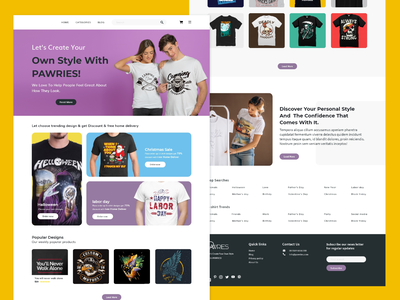 T-shirt Ecommerce Store Web UI Design ecommerce shop ecommerce store web graphic design