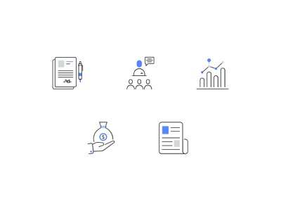 Business Unique Icon set  Free brand symbols business news investment loan signature contract conference graphic app custom work branding graphic design detail vector web icon set filled line line business