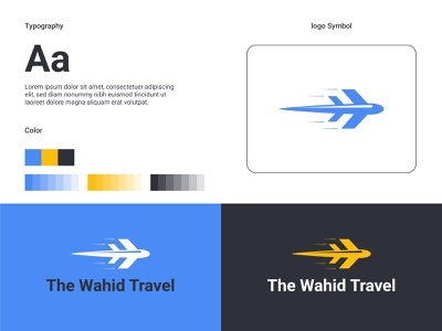 The Wahid Travel brand guidlines sketch sketching journey tour branding agency travel branding design vector illustration graphic design logo brand identity branding