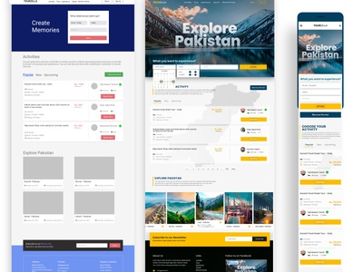 TourZilla - Tourisim Platform tourist brand design website design travel tour graphic design branding design website