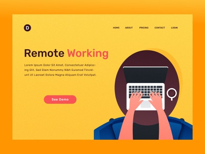Remote Working 2nd vector illustration web office work 24 hr working worker remote freelance