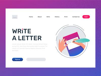 Write a latter landing page design
