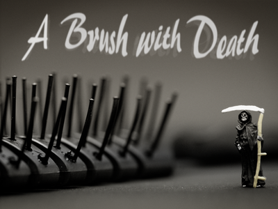 A Brush With Death type design photography
