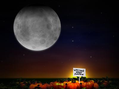 Welcome Great Pumpkin design illustration
