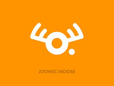 Atomic Moose Logo flat vector branding logo design