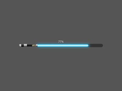 Progress Bar Lightsaber ui lightsaber star wars vector design illustration