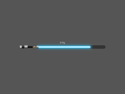 Progress Bar Lightsaber ui lightsaber star wars vector design illustration