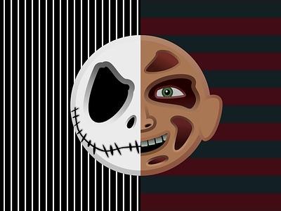 The Nightmare Before Elm Street vector design illustration