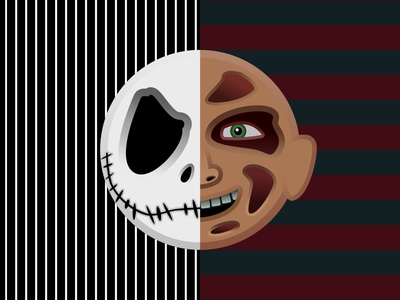 The Nightmare Before Elm Street vector design illustration