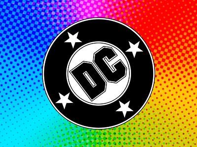 DC Comics Bullet Logo design vector