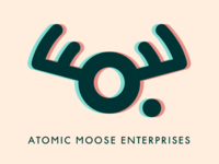 Atomic Moose Vintage 3D Logo