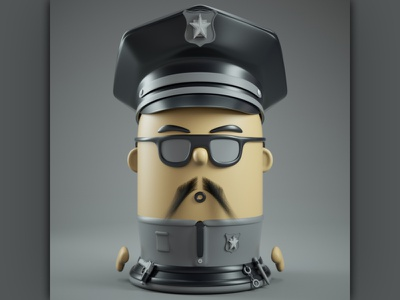 3d cartoon police character illustration character design characterdesign character 3dcharacter cartoon illustration cartoon character cartoons cartoon c4drender 3dmodeling 3dmodel design illustration c4d 3dillustration octanerender 3d