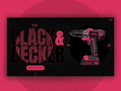 Black & Decker web redesign contemplations