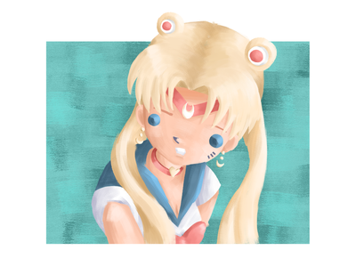 Sailor Moon Redraw Challenge fanart sailormoonredraw sailormoon anime painting doodle sketch characterdesign drawing photoshop digitalart illustration