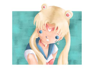 Sailor Moon Redraw Challenge fanart sailormoonredraw sailormoon anime painting doodle sketch characterdesign drawing photoshop digitalart illustration