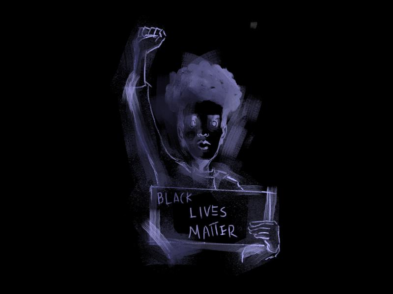 Black Lives Matter black lives matter painting doodle sketch characterdesign drawing photoshop digitalart illustration