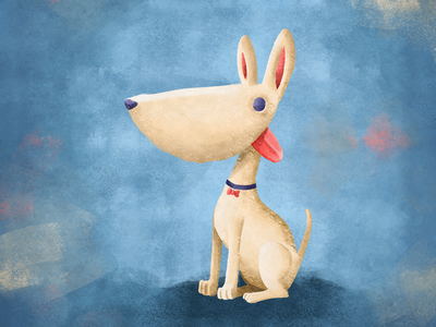 Dog one (blanquita) painting doodle sketch characterdesign drawing photoshop digitalart illustration dog art dog illustration dog lover dog