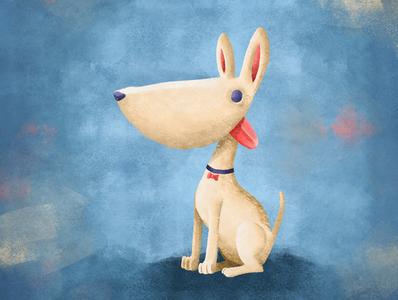 Dog one (blanquita) painting doodle sketch characterdesign drawing photoshop digitalart illustration dog art dog illustration dog lover dog