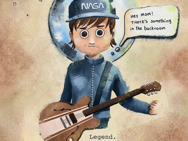 Tom DeLonge - Blink 182 / AVA / Boxcar Racer doodle sketch characterdesign drawing photoshop digitalart illustration artist guitar punk punk rock blink 182 blink182 tom delonge