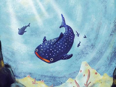 Whalesharks ocean doodle sketch characterdesign drawing photoshop digitalart illustration whaleshark