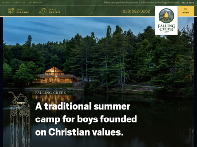 New Website for Falling Creek Camp