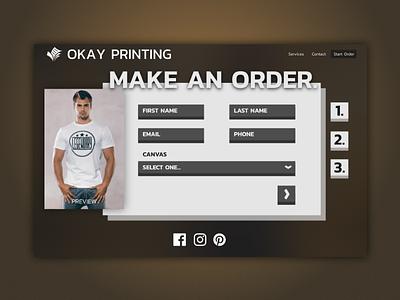 A Decent Ordering Form css html illustrator affinity e commerce web app ux ui website design input form