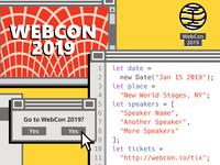 A Brutalist Web Conference Poster