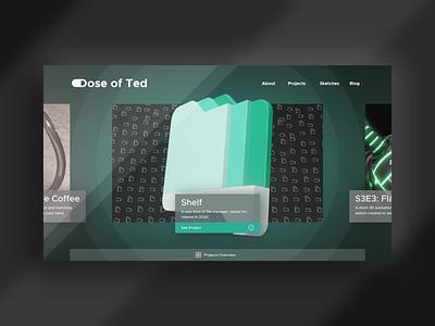 Portfolio Overhaul 2020 logo 2020 ui  ux affinity mockup gallery blog app fluent design glossy portfolio design