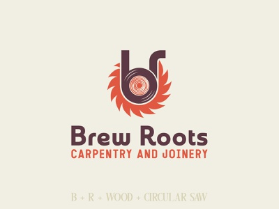 Brew Roots Carpentry & Joinery Logo Design simple logo minimalist logo crafts craft joinery carpenter carpentry wood woodworking retro design retro logo vintage vintage font vintage design vintage logo logomark logo logos logo design logodesign