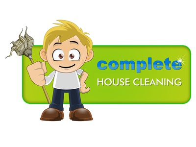 Complete House Cleaning Logo Made By Designrar - Cartoon