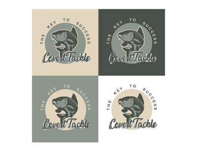 Covert Tackle Carp Fishing Logo Created By Designrar - Retro