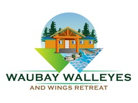 Vintage Hand Drawn Logo For Waubay Walleyes & Wings Retreat