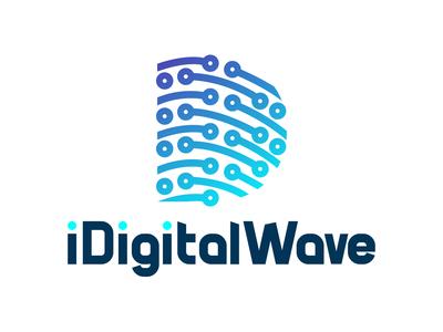 iDigitalWave Minimalist/flat Logo - Concept 1 - Rejected