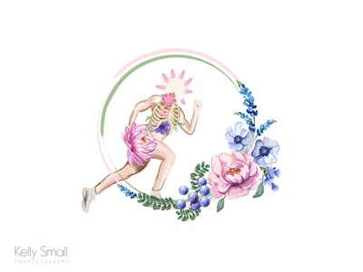 Kelly Small Physiotherapy Watercolor Logo Initial Concept