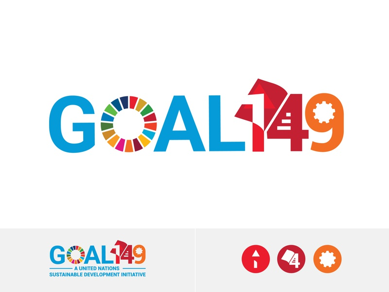 Goal 149 Logo Design Based on UN SDG Goals minimalist logo minimalistic minimalism minimalist minimal logomarca logomarks logomaker logomark revamp logos logo design logodesign logotype logo goals development sustainable united nations united states