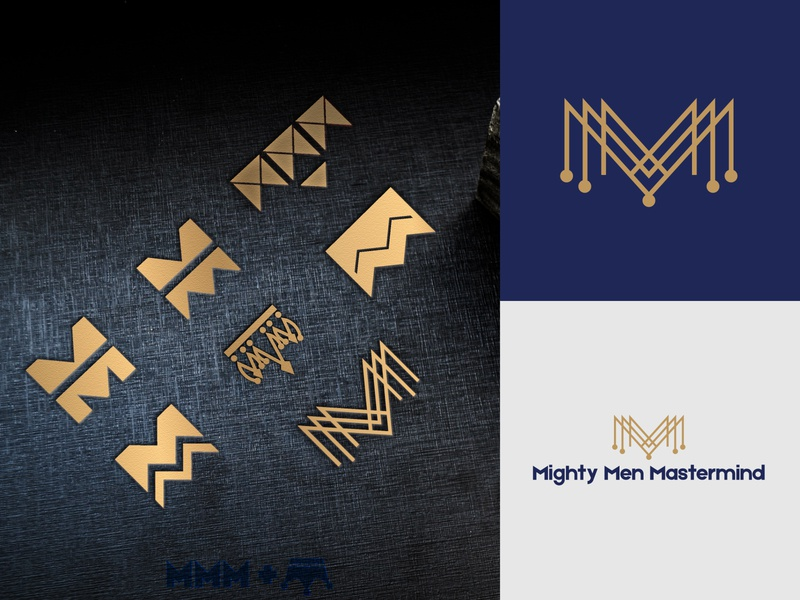Mighty Men Mastermind - From Initial Concepts To Final Design brand identity design brand design branding design brand identity minimalist logo design minimalist design minimalist logo minimalist logomarks logomaker logomark masterpiece mastermind master men mighty logo logo design logotype logodesign