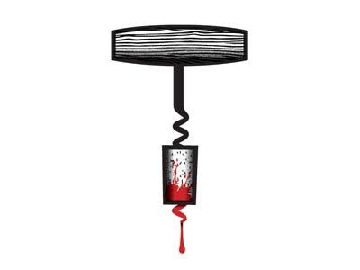 A Nightmare on Vine Street logo icon vector wine blood horror