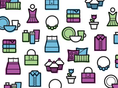 Icons icon illustration vector pattern