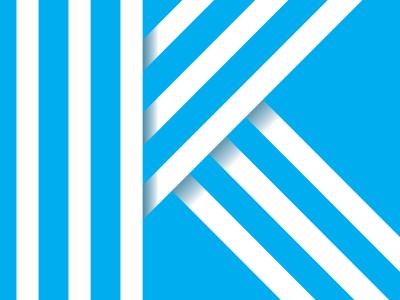K vector typography illustration sketch