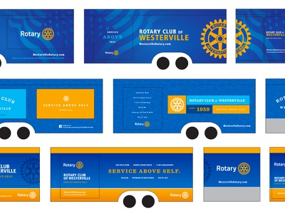 Rotary Club Concession Trailer vehicle graphics vehicle wrap concession trailer