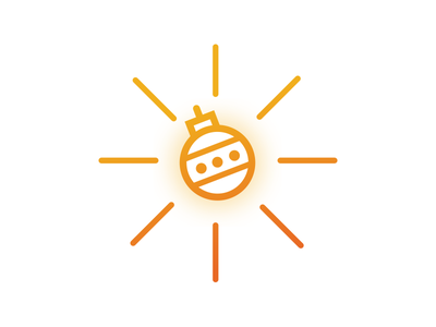 Christmas in July illustration christmas sun icon graphic