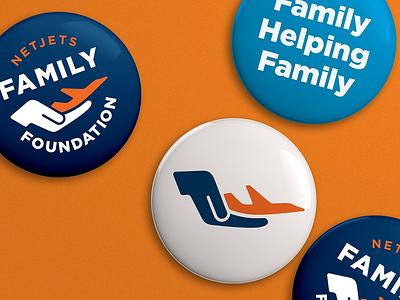 NetJets Family Foundation vector logo branding airplane