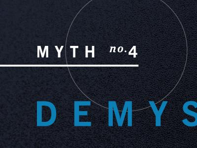 Myth WIP typography wip